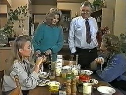 Bronwyn Davies, Madge Bishop, Harold Bishop, Henry Ramsay in Neighbours Episode 0991