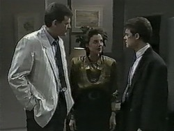 Des Clarke, Gail Robinson, Paul Robinson in Neighbours Episode 0992