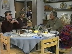 Nick Page, Beverly Marshall, Alison Ryder, Todd Landers, Jim Robinson, Helen Daniels in Neighbours Episode 0993