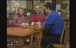 Helen Daniels, Harold Bishop, Des Clarke in Neighbours Episode 1243