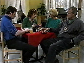 Des Clarke, Pam Willis, Madge Bishop, Jim Robinson in Neighbours Episode 1282
