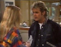 Lauren Carpenter, Connor Cleary in Neighbours Episode 1998