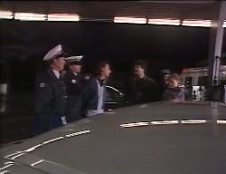 Police Officer, Darren Stark, Petrol Attendant, Rick Alessi, Debbie Martin in Neighbours Episode 1998