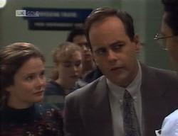 Julie Martin, Debbie Martin, Rick Alessi, Philip Martin, Dr Palmerston in Neighbours Episode 1998