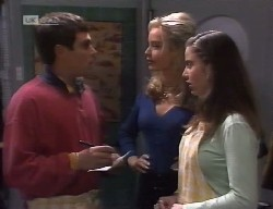 Mark Gottlieb, Annalise Hartman, Beth Brennan in Neighbours Episode 1999