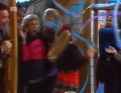 Paul Robinson, Wayne Duncan, Helen Daniels, Annalise Hartman, Hannah Martin, Julie Martin in Neighbours Episode 1999
