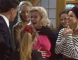 Paul Robinson, Hannah Martin, Annalise Hartman, Helen Daniels, Julie Robinson, Lucy Robinson in Neighbours Episode 2000