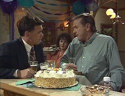 Paul Robinson, Pam Willis, Doug Willis in Neighbours Episode 2000