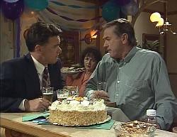 Paul Robinson, Pam Willis, Doug Willis in Neighbours Episode 2000