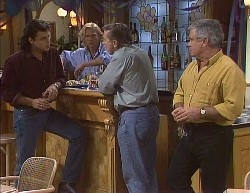 Wayne Duncan, Brad Willis, Doug Willis, Lou Carpenter in Neighbours Episode 2000