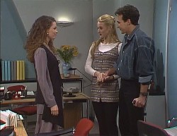 Gaby Willis, Phoebe Bright, Stephen Gottlieb in Neighbours Episode 2000