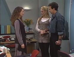 Gaby Willis, Phoebe Bright, Stephen Gottlieb in Neighbours Episode 2000