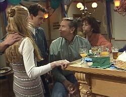Phoebe Bright, Stephen Gottlieb, Doug Willis, Pam Willis in Neighbours Episode 2000