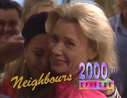 Rick Alessi, Lucy Robinson, Helen Daniels in Neighbours Episode 2000