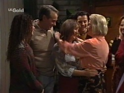 Cody Willis, Doug Willis, Pam Willis, Rick Alessi, Helen Daniels, Ren Gottlieb in Neighbours Episode 2239