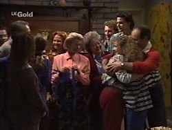 Doug Willis, Cody Willis, Julie Martin, Ren Gottlieb, Helen Daniels, Marlene Kratz, Sam Kratz, Pam Willis, Debbie Martin, Philip Martin in Neighbours Episode 2239