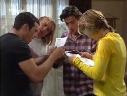 Stonie Rebecchi, Angie Rebecchi, Malcolm Kennedy, Danni Stark in Neighbours Episode 2527