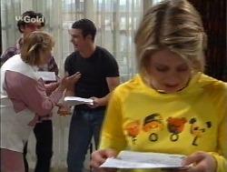Angie Rebecchi, Malcolm Kennedy, Stonie Rebecchi, Danni Stark in Neighbours Episode 2527