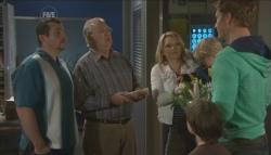 Toadie Rebecchi, Harold Bishop, Steph Scully, Charlie Hoyland, Ben Kirk, Dan Fitzgerald in Neighbours Episode 5607