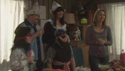 Mickey Gannon, Toadie Rebecchi, Kelly Katsis, Callum Jones, Miranda Parker in Neighbours Episode 5608