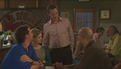 Lucas Fitzgerald, Elle Robinson, Paul Robinson, Trevor Maguire in Neighbours Episode 5610