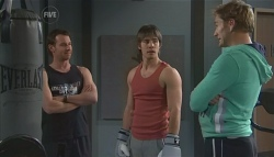 Lucas Fitzgerald, Ty Harper, Dan Fitzgerald in Neighbours Episode 5613