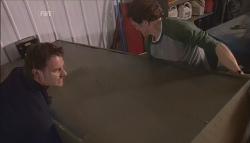 Lucas Fitzgerald, Greg Michaels in Neighbours Episode 5613