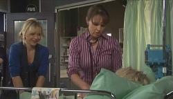 Steph Scully, Dr Veronica Olenski, Charlie Hoyland in Neighbours Episode 5614