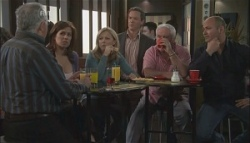Harold Bishop, Rebecca Napier, Samantha Fitzgerald, Paul Robinson, Lou Carpenter, Steve Parker in Neighbours Episode 5620