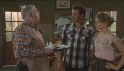 Harold Bishop, Lucas Fitzgerald, Elle Robinson in Neighbours Episode 5627