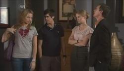 Donna Freedman, Simon Freedman, Elle Robinson, Paul Robinson in Neighbours Episode 5627