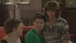 Callum Jones, Declan Napier, Bridget Parker in Neighbours Episode 5628