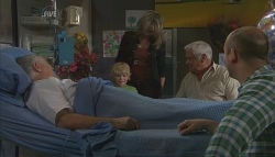 Harold Bishop, Charlie Hoyland, Steph Scully, Lou Carpenter, Steve Parker in Neighbours Episode 5629