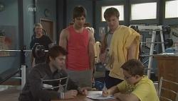 Declan Napier, Ty Harper, Ringo Brown, Callum Jones in Neighbours Episode 5630