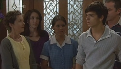 Susan Kennedy, Libby Kennedy, Rachel Kinski, Zeke Kinski, Karl Kennedy in Neighbours Episode 5632