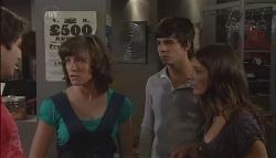 Declan Napier, Bridget Parker, Zeke Kinski, Rachel Kinski in Neighbours Episode 5632