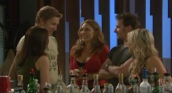 Libby Kennedy, Dan Fitzgerald, Cassandra Freedman, Lucas Fitzgerald, Steph Scully in Neighbours Episode 5637