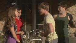 Tegan Freedman, Simon Freedman, Ringo Brown, Declan Napier in Neighbours Episode 5641