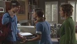 Zeke Kinski, Rachel Kinski, Susan Kennedy in Neighbours Episode 5643