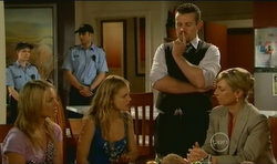 Donna Freedman, Elle Robinson, Toadie Rebecchi, Detective Sergeant Michaela Morris in Neighbours Episode 5670