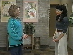 Madge Bishop, Poppy Skouros in Neighbours Episode 0963