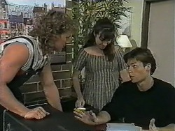 Henry Ramsay, Kerry Bishop, Mike Young in Neighbours Episode 0963