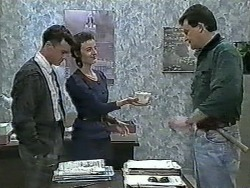 Paul Robinson, Gail Robinson, Des Clarke in Neighbours Episode 0964