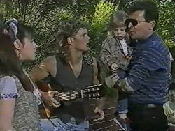 Kerry Bishop, Henry Ramsay, Jamie Clarke, Des Clarke in Neighbours Episode 0964