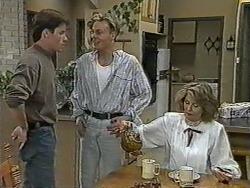 Mike Young, Scott Robinson, Madge Bishop in Neighbours Episode 0964