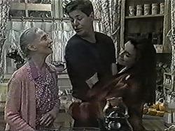 Mary Crombie, Joe Mangel, Kerry Bishop in Neighbours Episode 1029