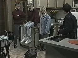 Matt Robinson, Nick Page, Sharon Davies, Hilary Robinson in Neighbours Episode 1030