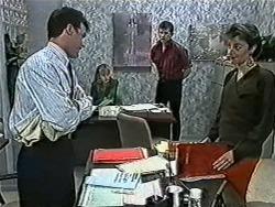Paul Robinson, Jane Harris, Des Clarke, Gail Robinson in Neighbours Episode 1032