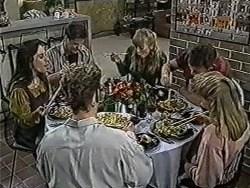 Kerry Bishop, Joe Mangel, Henry Ramsay, Jane Harris, Des Clarke, Bronwyn Davies in Neighbours Episode 1033