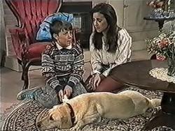 Toby Mangel, Bouncer, Kerry Bishop in Neighbours Episode 1034